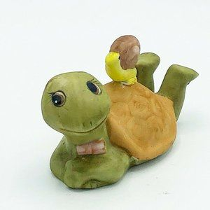Vintage Turtle with Snail on Shell Porcelain Figur